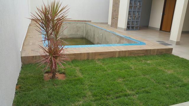 Casa nova 3quartos 3suites piscina churrasqueira rua 06 Vicente Pires condomínio - Foto 4