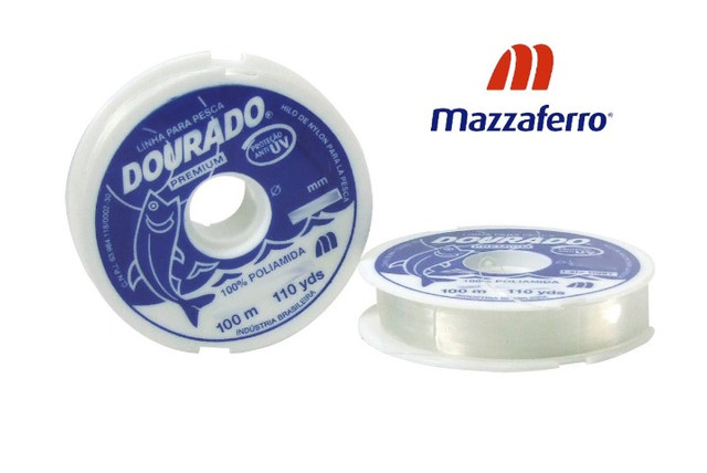 Linha Pesca Mazzaferro Dourado Branco 0,70mm X 100m - Foto 2
