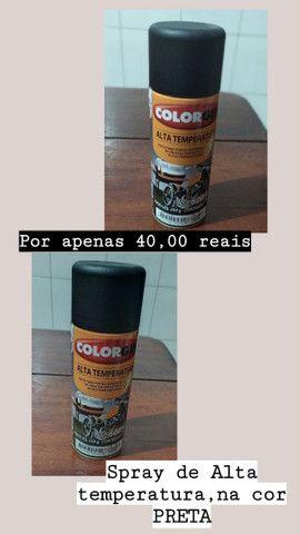 spray de Alta temperatura, na cor preta