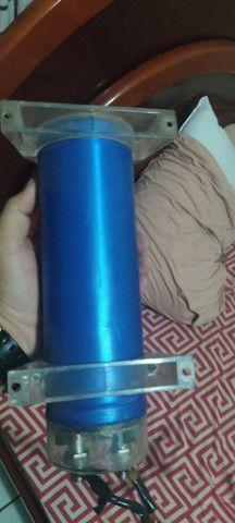 Mega capacitor blitz 1.6 farad som automotivo - Foto 3
