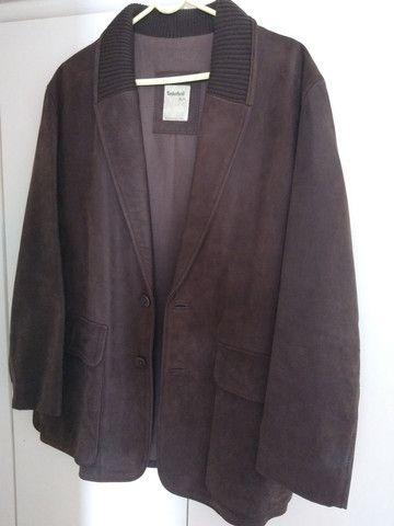 Casaco de couro tamanho médio marca Timberland - Foto 3