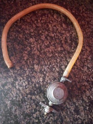 Registro de gas com mangueira