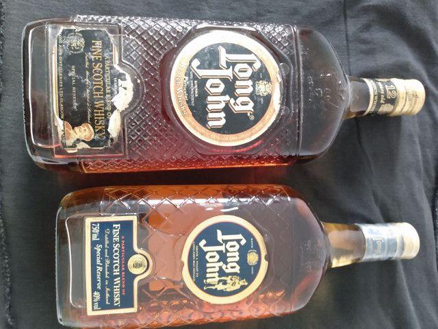2 Whisky LONG JOHN antigo coleção relíquia