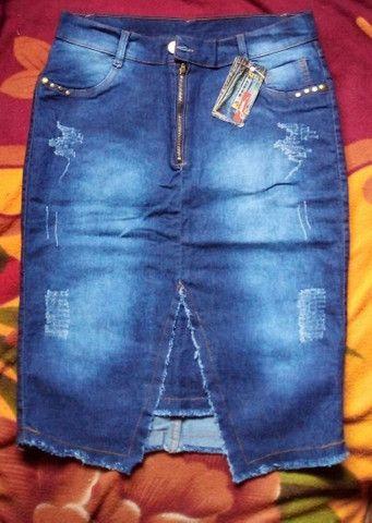 3Saia jeans secretaria moda evangélica - Foto 4