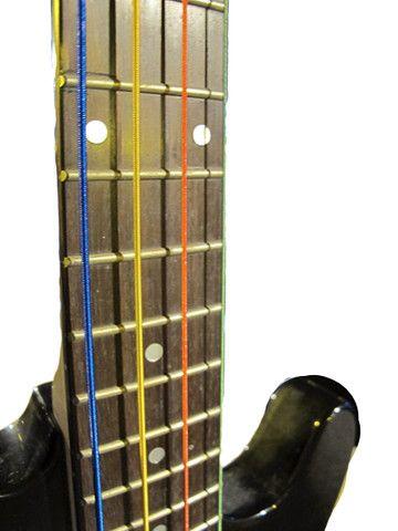 Jogo de Corda para Contrabaixo Elétrico - Cordas Coloridas - Foto 3