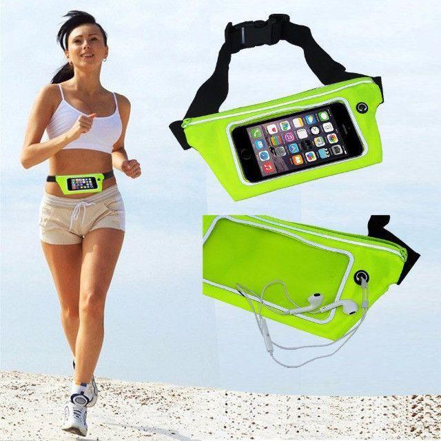 Pochete cinto porta celular fitness Corrida até 5.5' Impermeável