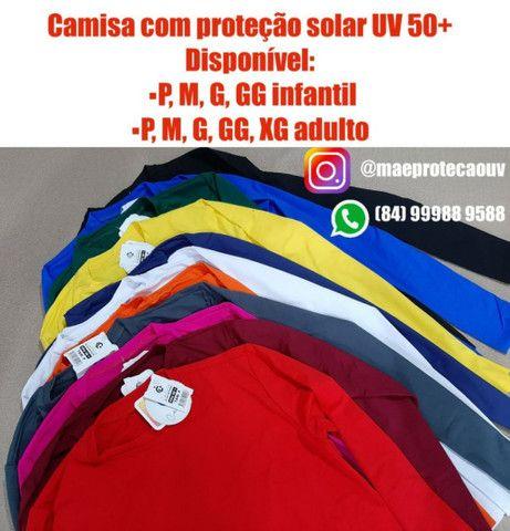 Camisas UV 50+ adulto e infantil
