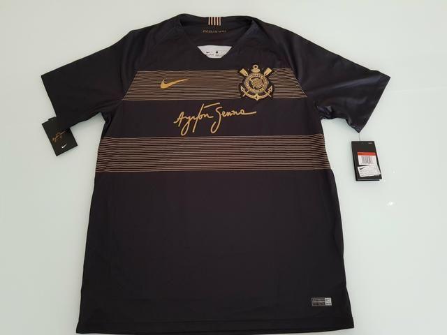480c161222 Camisa III Corinthians 2018 2019 Original Nike Ayrton Senna Tam. G ...