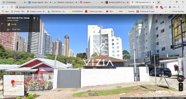 Terreno para alugar, 640 m² por R$ 2.800,00/mês - Mercês - Curitiba/PR