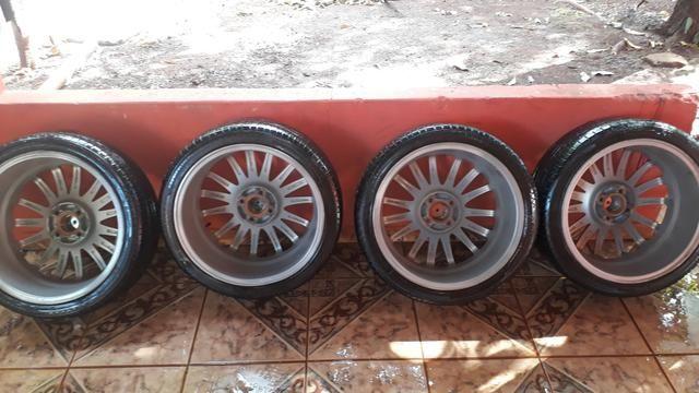Rodas 17 com pneus bons - Foto 3