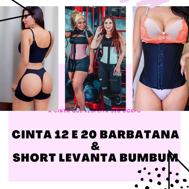 CINTA 12 e 20 BARBATANAS E SHORT LEVANTA BUMBUM