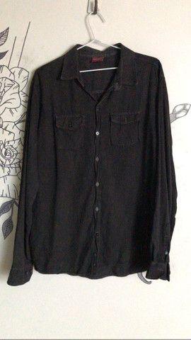 blusão de botões semi novo black