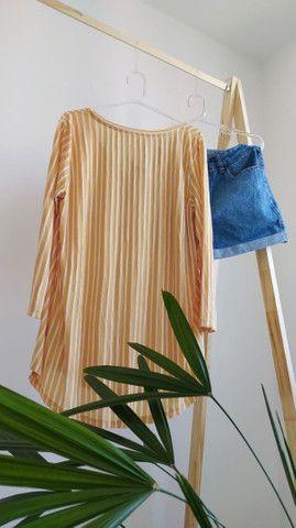 Blusa listrada marfinno  - Foto 2