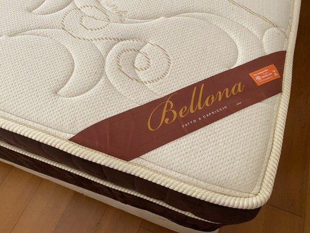 Vendo Cama Box King (base e colchão) - Belladona Ortobom - Foto 6