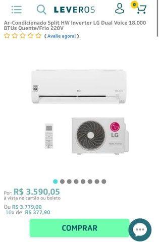 Vendo ar condicionado de 18000 btus LG dual inverter
