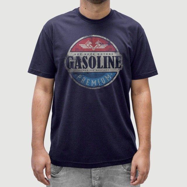 Camiseta Gasoline - Masculina - Tamanho G, GG