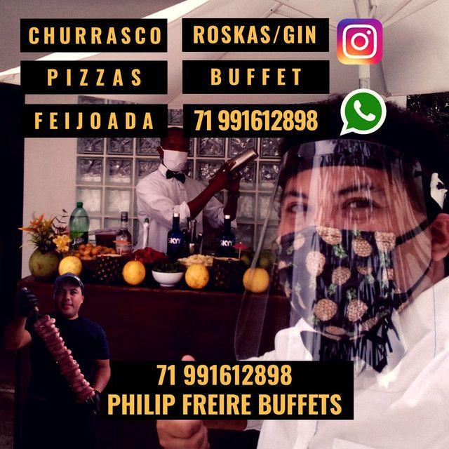 Buffet Roskas Gin Churrasco Feijoada Pizza Churrasqueiros Roskeiros Garçom - Foto 5