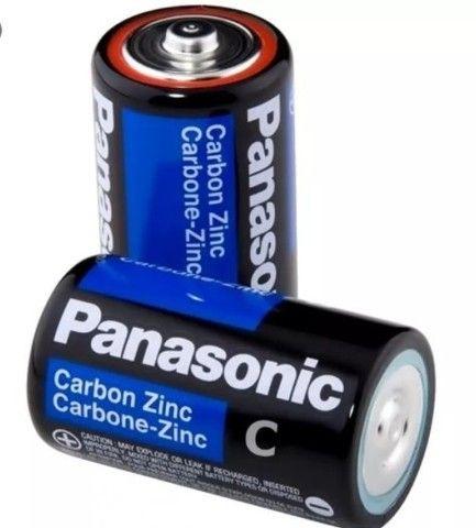 Pilha Panasonic Média C com 2 unidades
