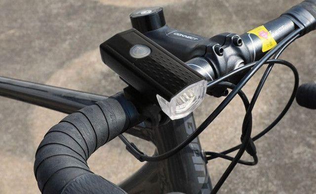 Lanterna Bike Recarregável Dianteira + Traseira - Foto 4