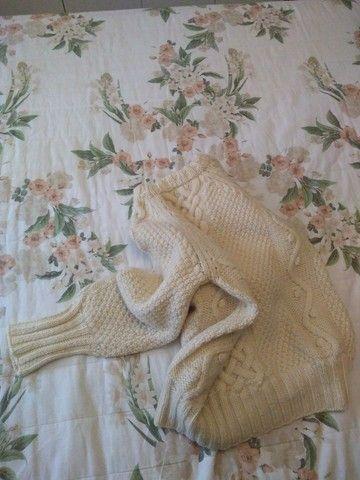 Blusão tricô à mão - Foto 2