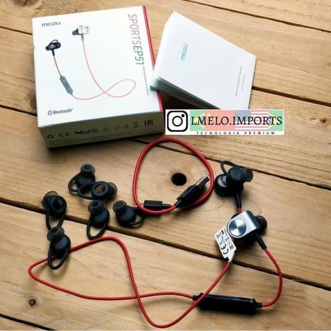 Fone Esportivo Bluetooth Meizu Ep51 Vermelho Original Sport | Última Peça - Foto 2