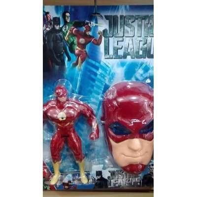 Boneco Flash Musical 25cm com Mascara Liga Da Justiça - Foto 2