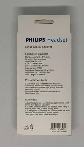 Fone de Ouvido Earphones Philips com Fio Produto Novo na Caixa - Foto 2