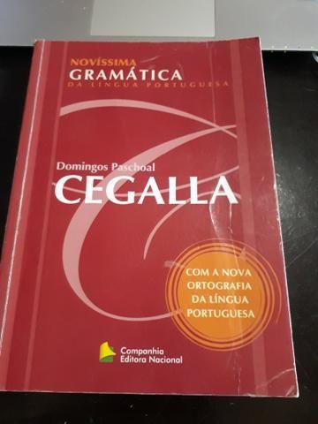 livro novissima gramatica da lingua portuguesa cegalla