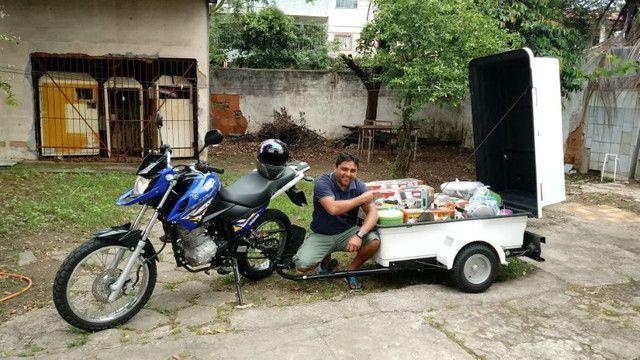 Carretinha para moto modelo Minimum SX Motoprático
