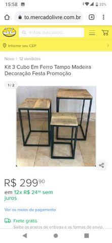 Kit três cubo