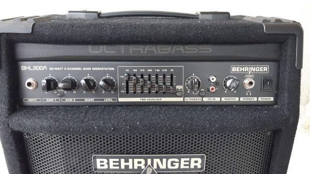 Amplificador Behringer Para Contrabaixo Ultrabass Bxl900a - Foto 3
