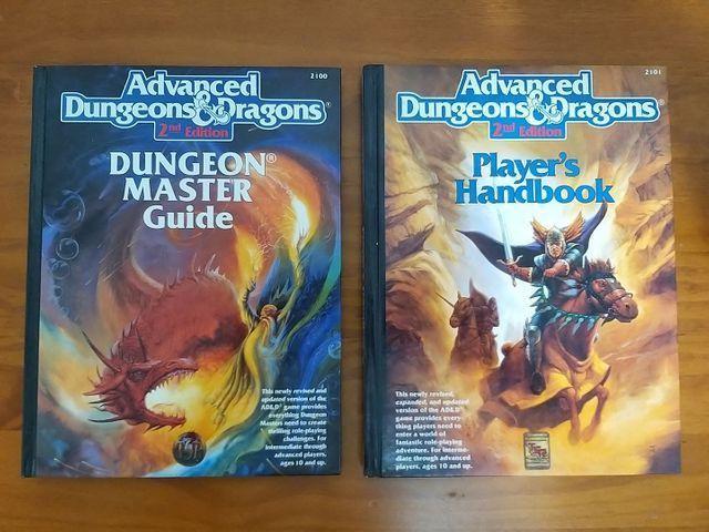 RPG AD&D 2nd Edition - Dungeon Master Guide + Player's Handbook + Brinde