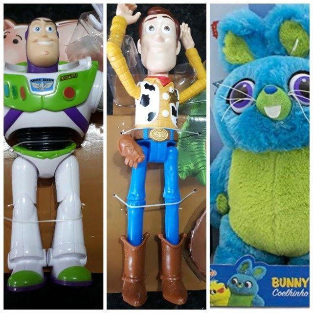 Woody ou Buzz ou coelho ou cão ou robô toy story mattel novos - Foto 6
