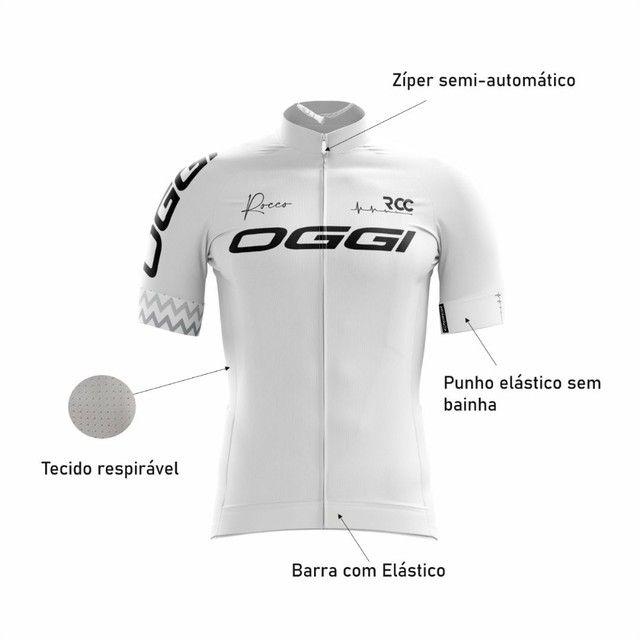 Camisa ciclista branca  - Foto 4