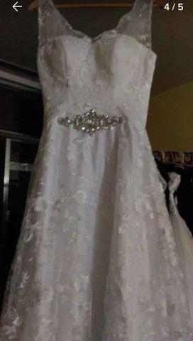 Vestido de Noiva Modelo Trapézio -40 a 44 - Foto 4