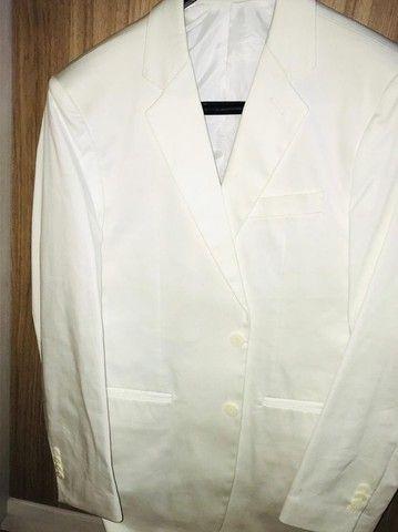 Blazer branco masculino impecável modelo italiano marca Frischmanns - Foto 3