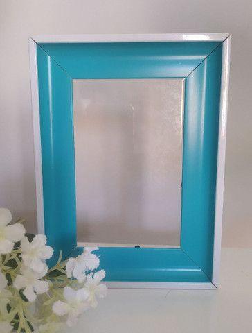 Porta Retrato Lindo Azul Turquesa
