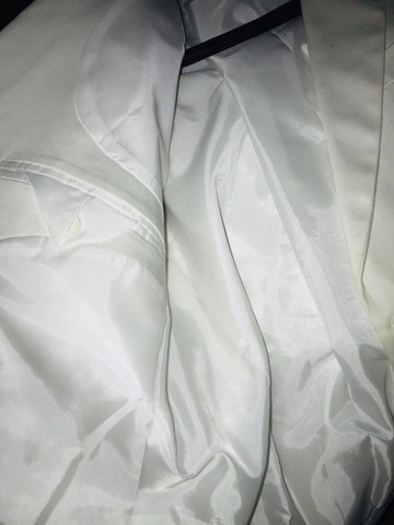 Blazer branco masculino impecável modelo italiano marca Frischmanns - Foto 4