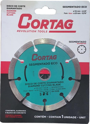 Disco De Corte Diamantado 110mm Segmentado Eco - Cortag - Foto 2