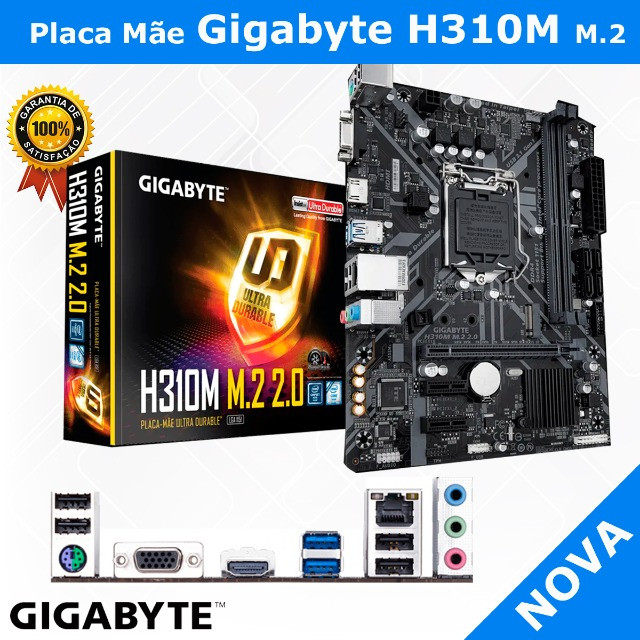 Placa Mãe Gigabyte H310M M.2, Chipset H310, Intel LGA 1151, mATX, DDR4 - Foto 2