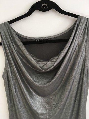 Blusa lurex gola boba - Foto 4