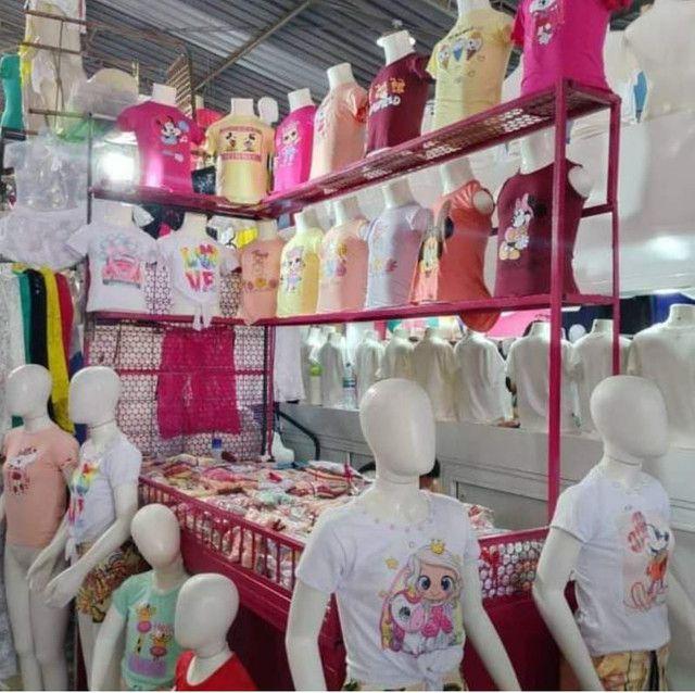 Blusinhas infantis Bella princess óptimo preço pra loja de dez  - Foto 2