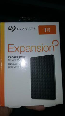 HD Externo 1TB Seagate - Lacrados - Aceito Cartão