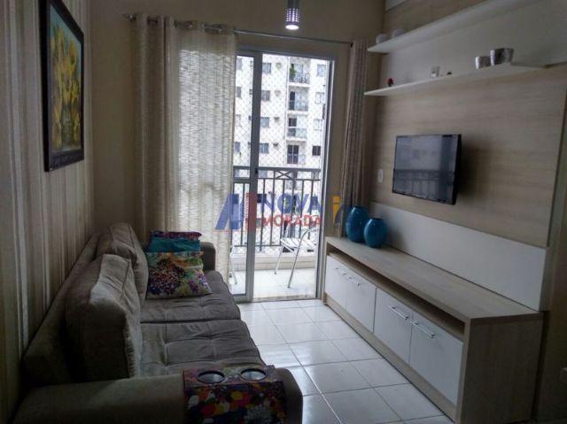 Apartamento de 2 quartos com suíte, montado e decorado