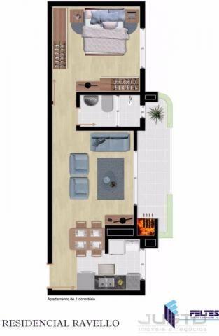 Apartamento à venda com 1 dormitórios em Centro, São leopoldo cod:6158 - Foto 4