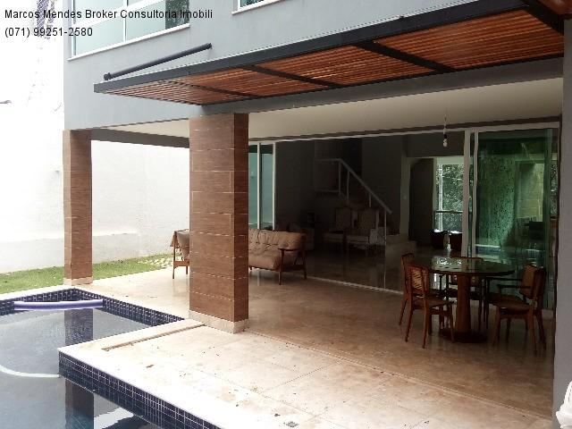 Linda casa pra venda ou locação - Alphaville Salvador 1. Lote diferenciado em parte alta.  - Foto 8