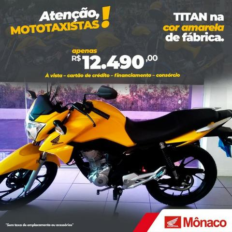 Titan Amarela Exclusiva Para Mototáxi