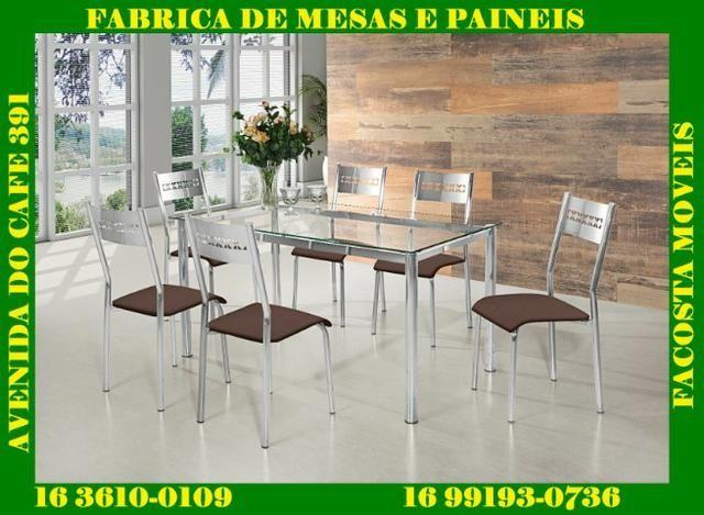 Mesa cromada com 6 cadeiras facosta só 998,00 a vista - Foto 2