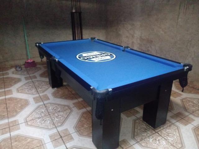 Mesa Quatro Pés Cor Preta Tecido Azul Logo Grêmio Mod. CXED2360 - Foto 2