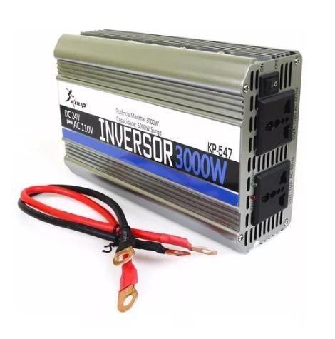 Inversor 24v Para 110v 3000w Conversor Caminhão Kp-547 - Foto 3